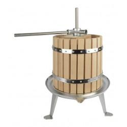 Pressoir (presse) mécanique à fruits et légumes en inox et chêne