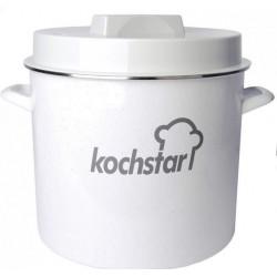 Stérilisateur Kochstar émaillé. Couvercle pour thermomètre.