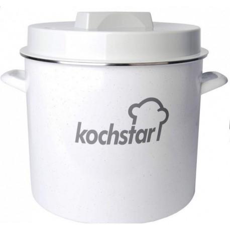 Stérilisateur kochstar simple émaillé. Couvercle pour thermomètre.