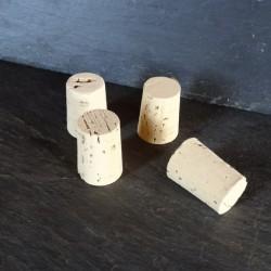 Bouchon conique en liège naturel pour bouteille en verre