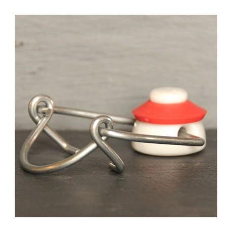 Bouchon mécanique avec joint caoutchouc