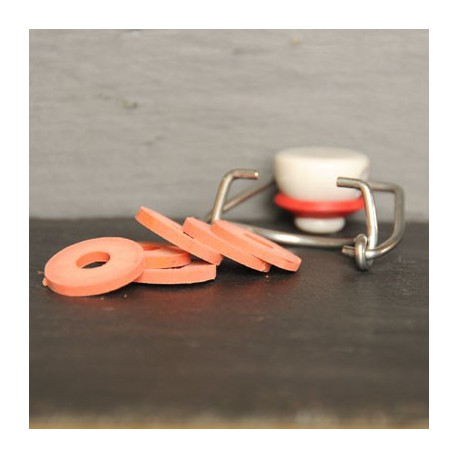 Rondelle caoutchouc pour bouchon mécanique
